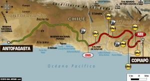 8. etapa na rally dakar 2011 - plán cesty