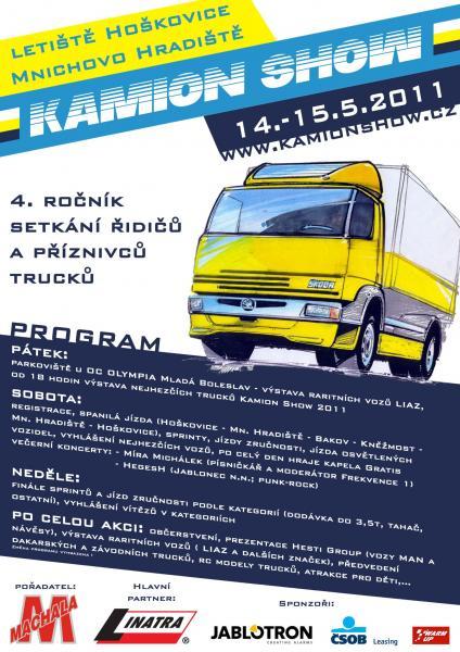 Kamion Show 2011 na letišti Hoškovice u Mnichova Hradiště