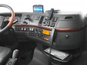 kabina řidiče s telematikou
